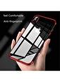 Microsonic iPhone XS Max (6.5'') Kılıf Skyfall Transparent Clear  Kırmızı